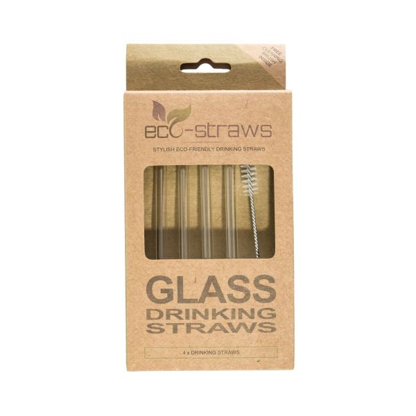 STRAIGHT Glass Drinking Straws (6mm x 145mm)